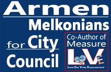 Armen Melkonians for City Council banner ad