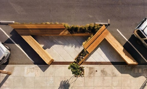 Birdseye View of Parklet